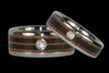 Diamond Titanium Ring with Exotic Wood - Hawaii Titanium Rings  - 2