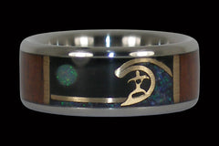 Surf Titanium Ring - Hawaii Titanium Rings  - 1
