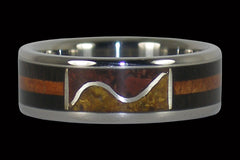 Ocean Tide Titanium Rings - Hawaii Titanium Rings