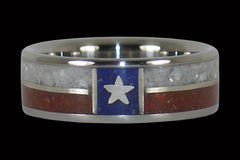 Texas State Flag Titanium Rings - Hawaii Titanium Rings