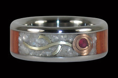 The Rose Titanium Ring - Hawaii Titanium Rings