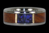 Australian Opal and Koa Wood Titanium Ring - Hawaii Titanium Rings  - 1