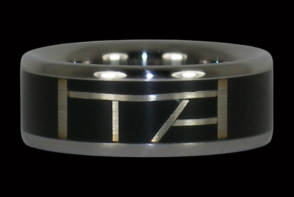 Black Matrix Titanium Ring