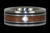 Dark Koa and Black Jet Ring - Hawaii Titanium Rings  - 2