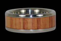 Tulip Wood Titanium Ring - Hawaii Titanium Rings  - 1