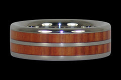 Tulip Wood Titanium Ring Band - Hawaii Titanium Rings  - 1