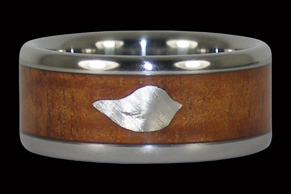 Love Bird Titanium Ring Band