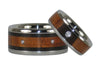 Koa and Blackwood Titanium Wedding Rings - Hawaii Titanium Rings  - 4