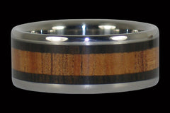 Koa and Blackwood Titanium Ring - Hawaii Titanium Rings  - 1