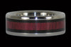 Black Wood and Purpleheart Titanium Ring - Hawaii Titanium Rings  - 1