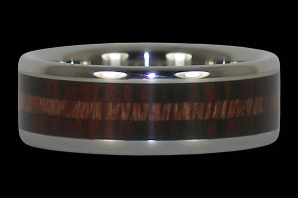 Camatillo Titanium Ring with Mac Nut Wood