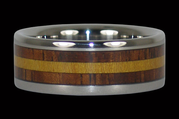Hawaii Titanium Ring® with Osage Wood and Koa