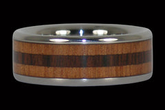 Mahogany and Kingwood Titanium Ring - Hawaii Titanium Rings  - 1
