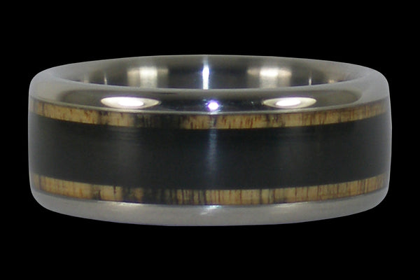 Black Ebony Titanium Ring Band