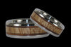 Mango and Koa Wood Titanium Rings - Hawaii Titanium Rings  - 1