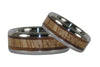 Mango and Koa Wood Titanium Rings - Hawaii Titanium Rings  - 4