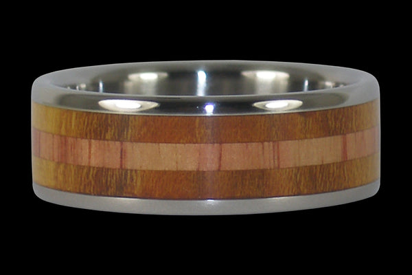 Tulip and Osage Wood Hawaii Titanium Ring®
