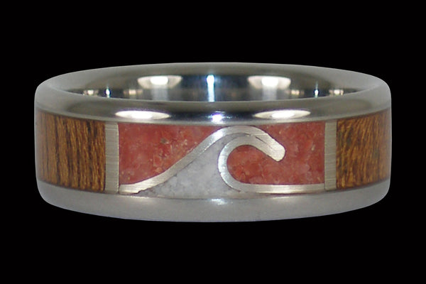 Ocean Wave Ring for Surfer Men and Women