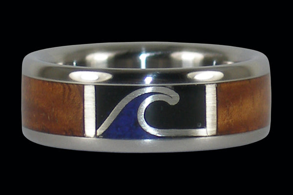 Night Surfer Titanium Ring