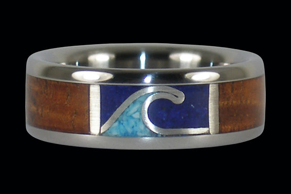 Ocean Titanium Rings for West Coast Surfers