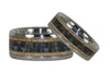 Black Carbon Fiber and Wood Titanium Ring Set - Hawaii Titanium Rings  - 4