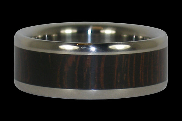Wenge Titanium Ring Band