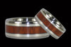 Blood Wood and Sterling Silver Titanium Ring Band - Hawaii Titanium Rings  - 2