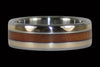 Tiger Koa Titanium Ring - Hawaii Titanium Rings  - 1