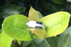 White Pearl Titanium Ring Band - Hawaii Titanium Rings  - 2