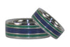 Lapis and Malachite Titanium Rings - Hawaii Titanium Rings  - 4