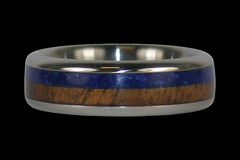 Lapis and Koa Hawaii Titanium Ring®