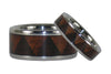 Tribal Pattern Titanium Hawaiian Wood Ring Set - Hawaii Titanium Rings  - 4