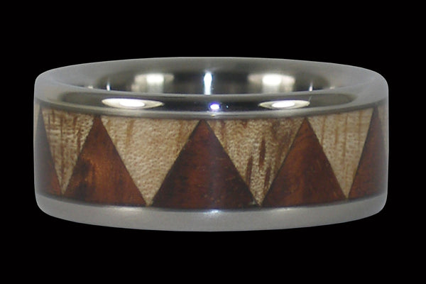 Titanium Ring Band with Exotic Wood Inlay