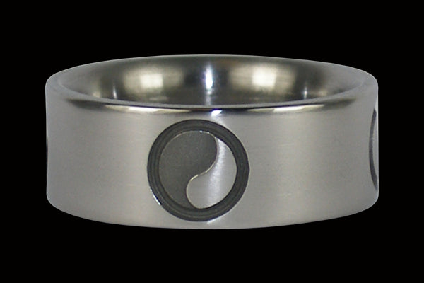 Yin and Yang Titanium Ring