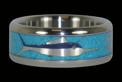Marlin Titanium Ring - Hawaii Titanium Rings  - 1