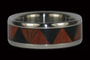 Triple Wood Titanium Tribal Ring - Hawaii Titanium Rings  - 2