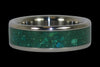 Blue Chrysacolla Titanium Ring - Hawaii Titanium Rings  - 2