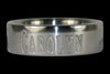 Titanium Ring Engraved with Name - Hawaii Titanium Rings