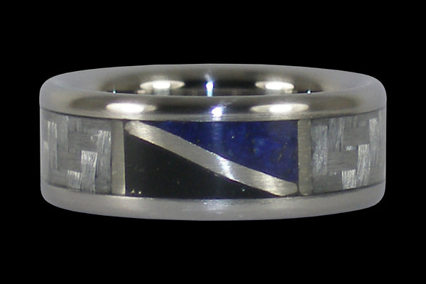 Low Tide Flag Titanium Ring