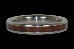 Dark Koa Narrow Titanium Ring - Hawaii Titanium Rings  - 1