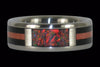 Red Lab Opal Titanium Ring Band - Hawaii Titanium Rings