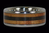 Blackwood and Fire Koa Titanium Ring Band - Hawaii Titanium Rings  - 1