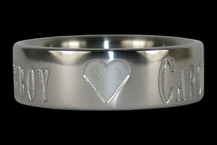 Titanium Ring with Sweethearts Name - Hawaii Titanium Rings