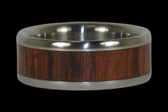 King Wood Titanium Ring - Hawaii Titanium Rings  - 1