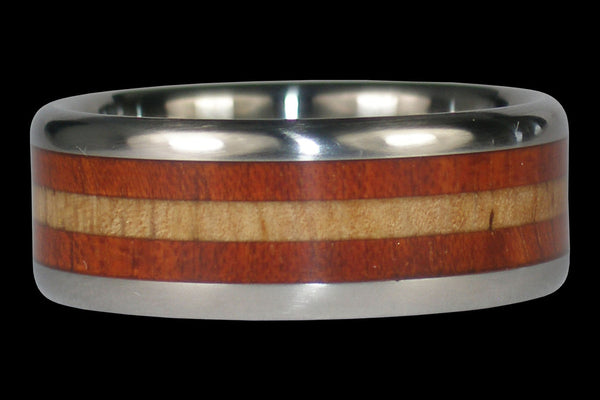 Robusta Wood and Mango Titanium Ring