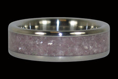 Lepidolite Titanium Ring - Hawaii Titanium Rings  - 1