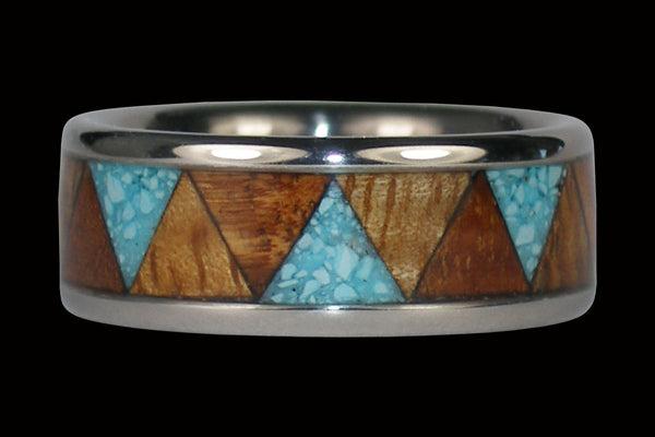 Tribal Design Hawaii Titanium Ring