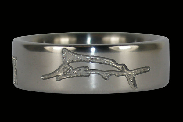 Sword Fish Titanium Ring by Hawaii Titanium Rings