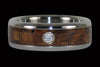 Tiger Koa Diamond Titanium Ring - Hawaii Titanium Rings  - 1