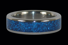 Blue Hawaii Metallic Titanium Ring - Hawaii Titanium Rings  - 1